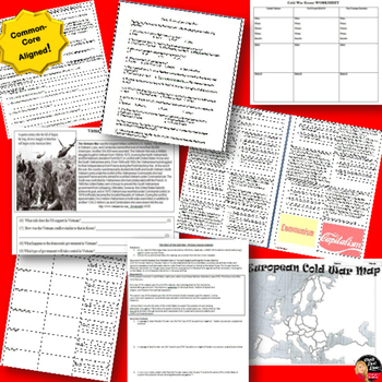 Cold War Worksheets BUNDLE (20 included!)- World or U.S. History