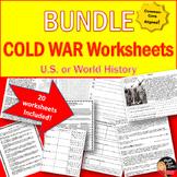 Cold War Worksheets BUNDLE (20 included!)- World or U.S. History