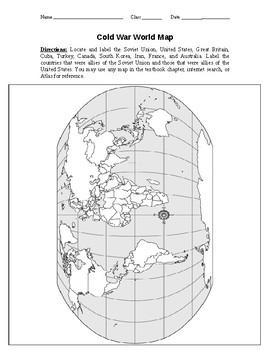 Cold War World Map