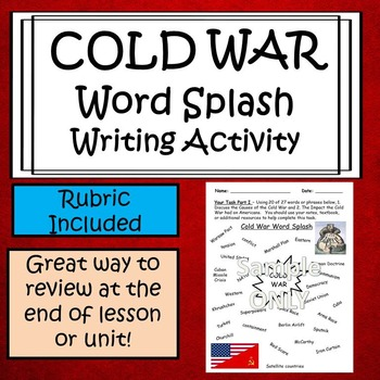 Cold War Writing Activity