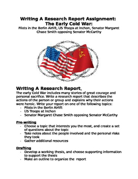 Cold War: Writing Pilots of Airlift, Troops  Inchon, Senat