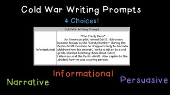 Cold War Writing Prompts