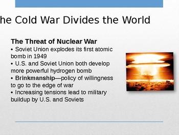 Cold War Years-Restructuring the Postwar World- Modern World History POWERPOINT