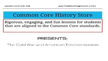 Cold War and American Interventionism Lesson Powerpoint