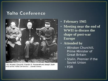 Cold War and End of WWII
