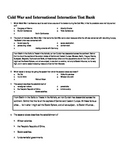 Cold War and International Interaction Test Bank for World History (Word)