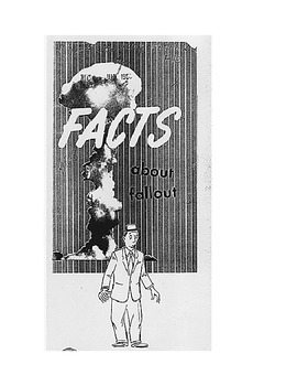 Cold War era Facts About Fallout Pamphlet Analysis