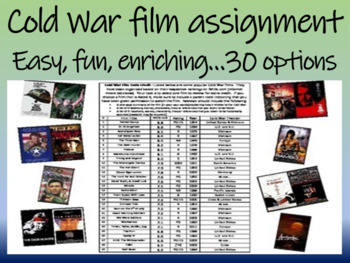 Cold War film assignment - easy, fun, enriching... 30 options