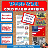 Cold War in America WORD WALL Posters | U.S.History | Vocabulary Classroom Decor