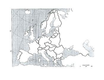 Cold War map, 1955