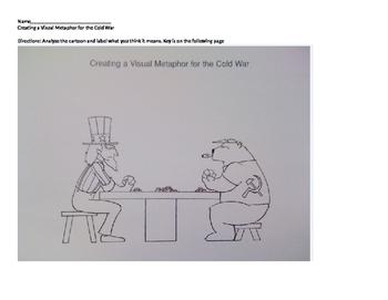 Cold War Cartoon Analysis Worksheets Teaching Resources Tpt