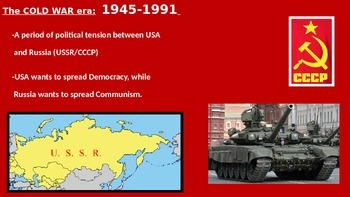 Cold War powerpoint w/Foldable slides
