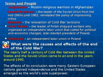 Cold War's End: Detente and Solidarity