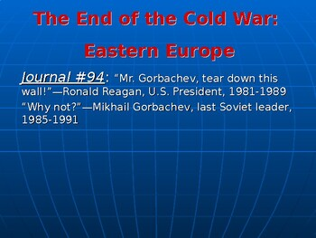 Cold War's End: The End of the Cold War in Eastern Europe