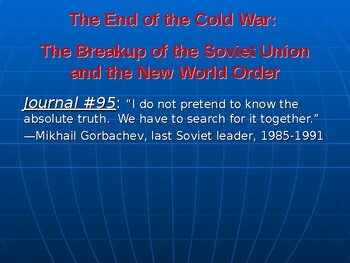 Cold War's End: The Fall of the Soviet Union