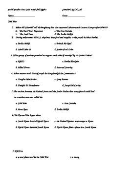 Cold War/Civil Rights Test SS5H7 & H8