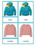 Cold Weather Clothing 3-Part Cards