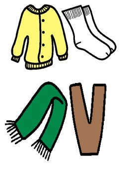 Cold Weather Time: Interactive Pieces/Adapted to Learn Winter Clothing