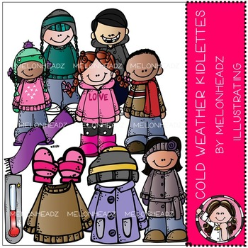 Melonheadz: Cold Weather clip art - Kidlettes - COMBO PACK