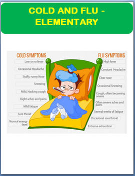 Cold And Flu Information And Prevention Elementary Students Activities