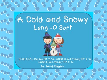 Cold and Snowy Long O Activities (ow, oa, o_e, o)