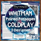 Coldplay Song Lyrics & Walt Whitman Poetry Compare & Contrast Middle & High