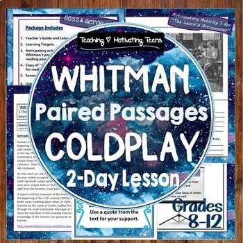 "Coldplay ""The Scientist"" Lyrics & Walt Whitman Poetry Comp"
