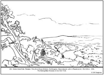 Cole, Thomas. The Oxbow.  Coloring page and lesson plan ideas