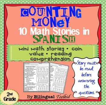 Colección de Dinero - Counting Money Mini Stories in Spanish 2nd Grade