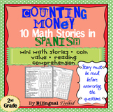 Colección de Dinero - Counting Money Mini Stories in Spanish 2nd Grade