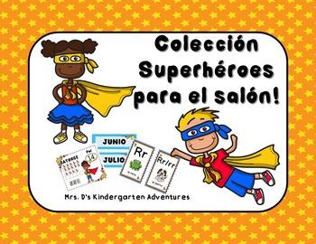 Colección Superhéroes para el salón!