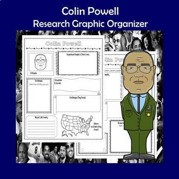 Colin Powell Biography Research Graphic Organizer