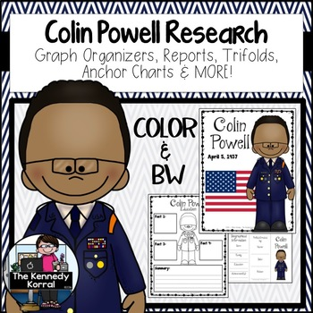 Colin Powell Biography Research Bundle {Report, Trifold, & MORE!}
