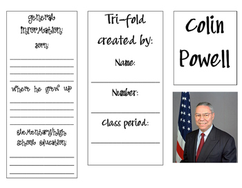 Colin Powell Trifold