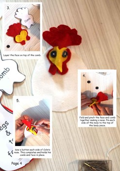Colin the Rooster instructions and pattern