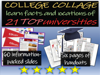CollEge CollAge Activity: 60-slide PPT on 21 universities