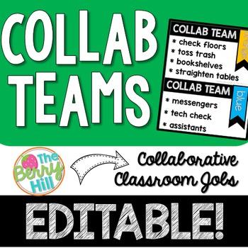 Collab Teams - Group Jobs EDITABLE!