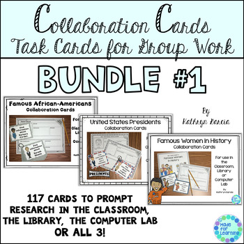 Task Cards Group Work BUNDLE of Famous People
