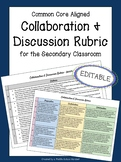 Group Work Rubric | Assessing Collaboration & Discussion | EDITABLE