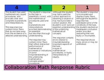 Collaboration Math Response Rubric