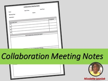 Collaboration Meeting Notes