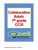 Collaboration Rubric for Group Discussions Common Core 7th grade