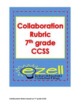 Collaboration Rubric for Group Discussions Common Core 7th grade