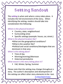 Collaborative Activity:  Understanding Setting in Symbols For HS Students
