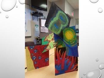 Microscopic Cell Abstract Art Lesson - Color Scheme - Collaborative Art Lesson