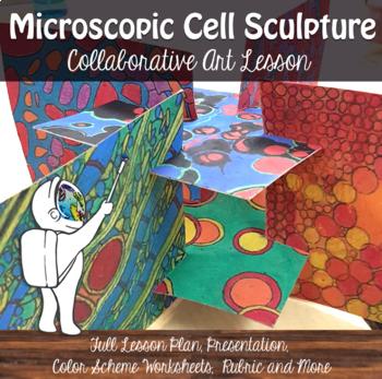 Cell Collaborative Art Lesson - Color & Form - Slot Sculpture