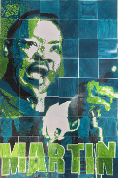 Collaborative Art Project Martin Luther King Jr By Art With Ms