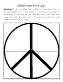 Collaborative Art Project Peace Sign