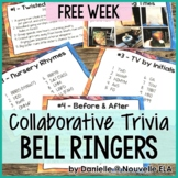 Collaborative Bell Ringers Free Week - Team Trivia, Puzzles, and Riddles