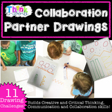 Team Building Collaboration Partner Drawing